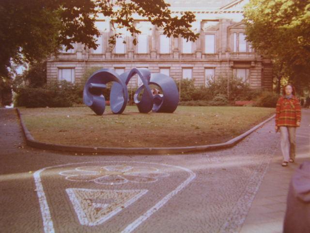 Die Blaue Spirale 1973 in Bochum. NRW