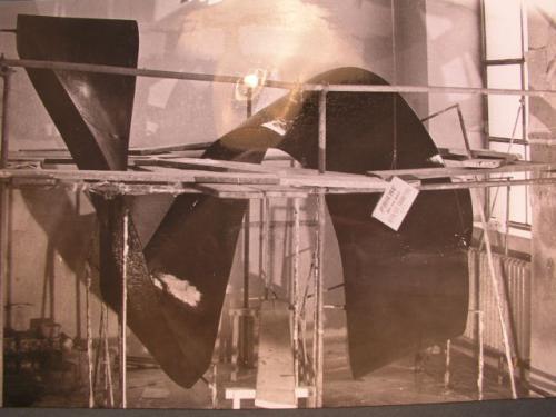 Bau der Spirale 1970-1972 | Die Gips Urform zur Formabnahme.7