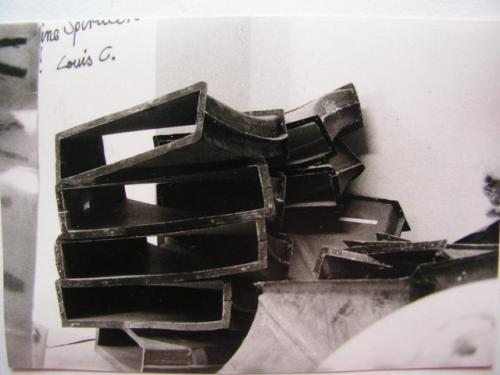 Bau der Spirale 1970-1972 | Gussformen gestapelt 3