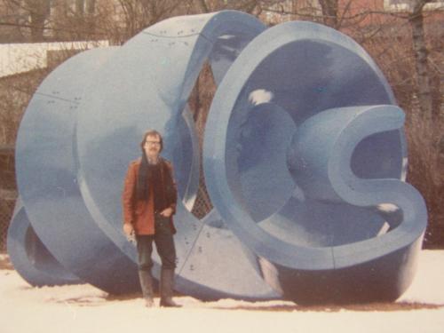 Im Park der Kunstakademie 1972