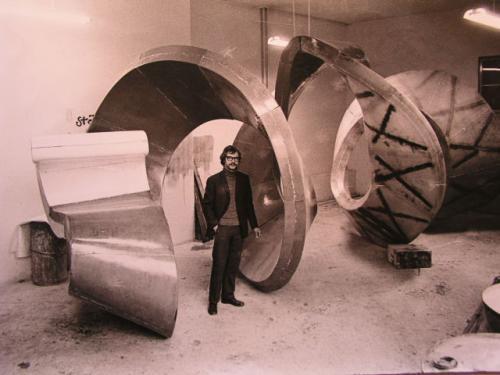Bau der Spirale 1970-1972 | Spirale im Rohbau 1