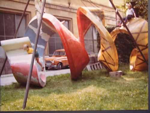Bau der Spirale 1970-1972 | Spirale unbehandelt im Freien .8