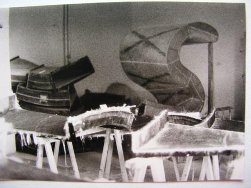 Bau der Spirale 1970-1972 | handwerkliche Herstellung der Formelemente 4